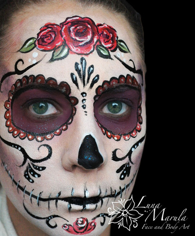Day Of The Dead Face Paint Templates